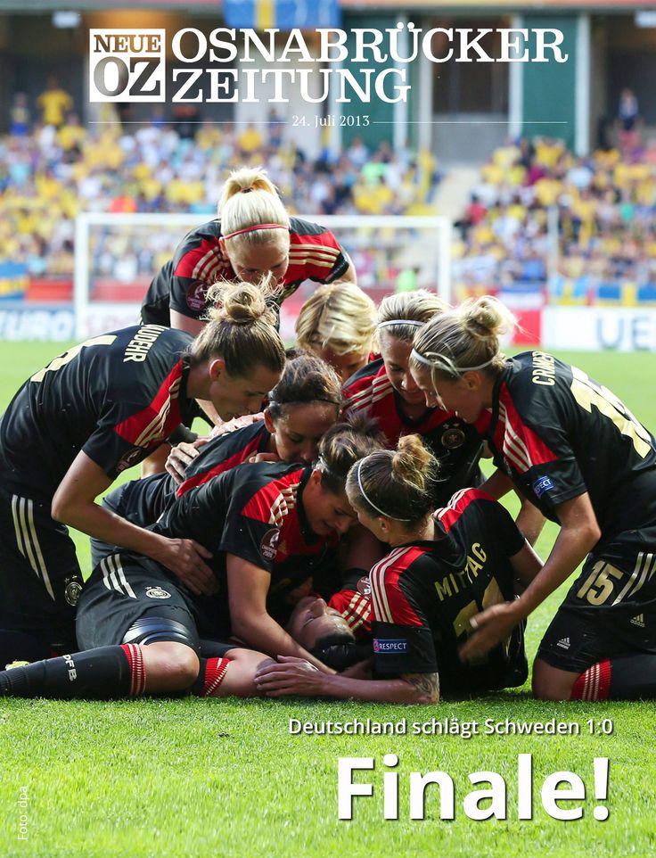 Geschafft: Die DFB-Frauen schmeißen Schweden raus und stehen im EM-Finale. Alles dazu in unserer aktuellen iPad-Ausgabe ... www.noz.de/digitalabo