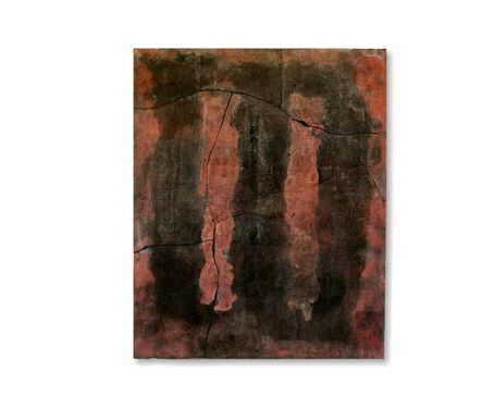 Fiammatura rossa 2008 Stele cm 45x36  Mix di terre raccolte e refrattari.  Cottura e fiammature effettuate a cielo aperto. By Giovanni Maffucci