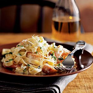This delicious seafood pasta features a homemade alfredo sauce and fresh shrimp, sea scallops, and crab.View Recipe: Seafood Fettuccine