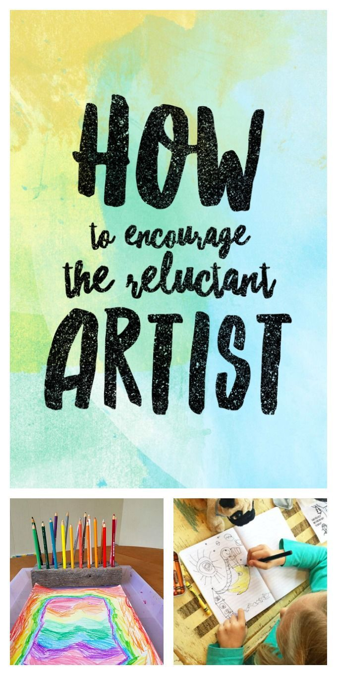 Drawing for Kids - How to Encourage the Reluctant Artist