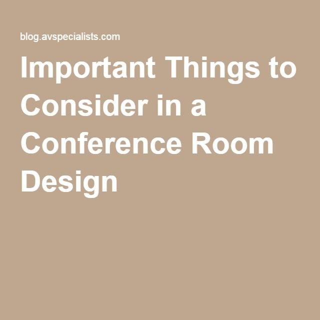 Important Things to Consider in a Conference Room Design