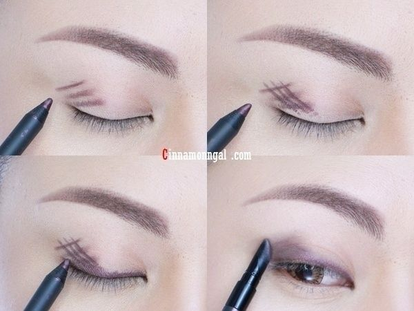 Forgo eyeshadow and instead, crosshatch gel liner onto lids and blend for long-lasting, budge-proof coverage. | 27 DIY Beauty Hacks Every Girl Should Know
