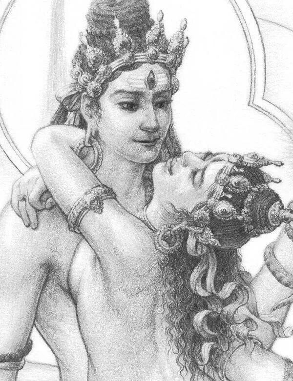Shiva/Shakti Yab Yum. The Union of Love and Wisdom
