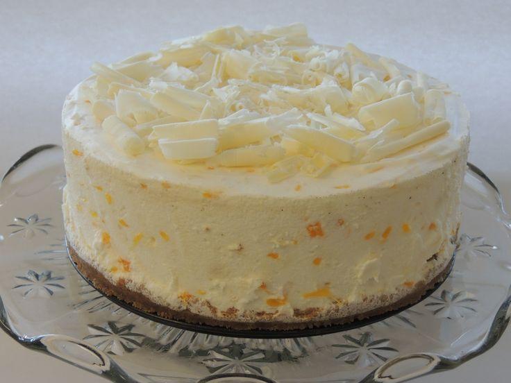 Nepečená jogurtovo-mandarinková torta