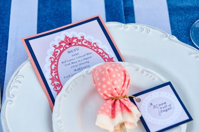 Coral & Navy Wedding   The Frosted Petticoat
