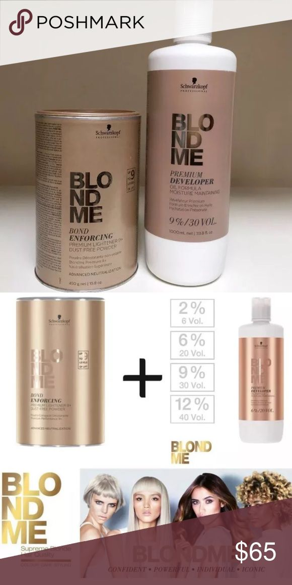 Schwarzkopf BLONDME Bleach Prem Lift 9-Dev 9% 30 V Schwarzkopf BLONDME Bleach Premium Lift 9+ & Developer 9%/ 30 Volume DUO SET  High performance powder lightener for maximum lift. Powerful yet protective. Up to 9 levels of lift Superior hair quality thanks to the protection of the hair fibre during processing Minimised hair breakage schwarzkopf Other