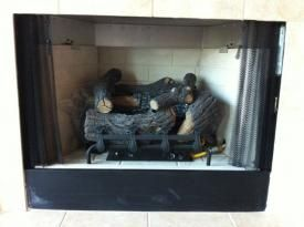 photo of a ventless gas log fireplace