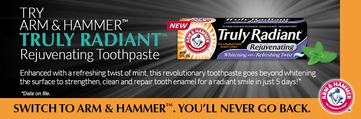 Cents and Savings: Free Sample Arm & Hammer Truly Radiant Toothpaste