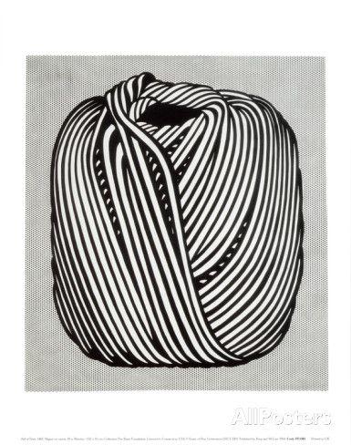 Garnnystan, 1963 - Konst av Roy Lichtenstein