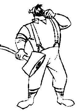 paul bunyan coloring pages printable