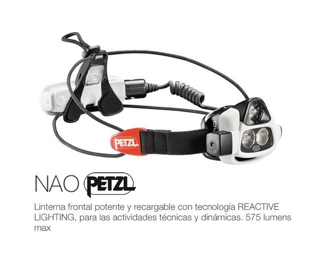 NAO Petlz http://www.sansport.com/producto/linterna-frontal-nao-petzl