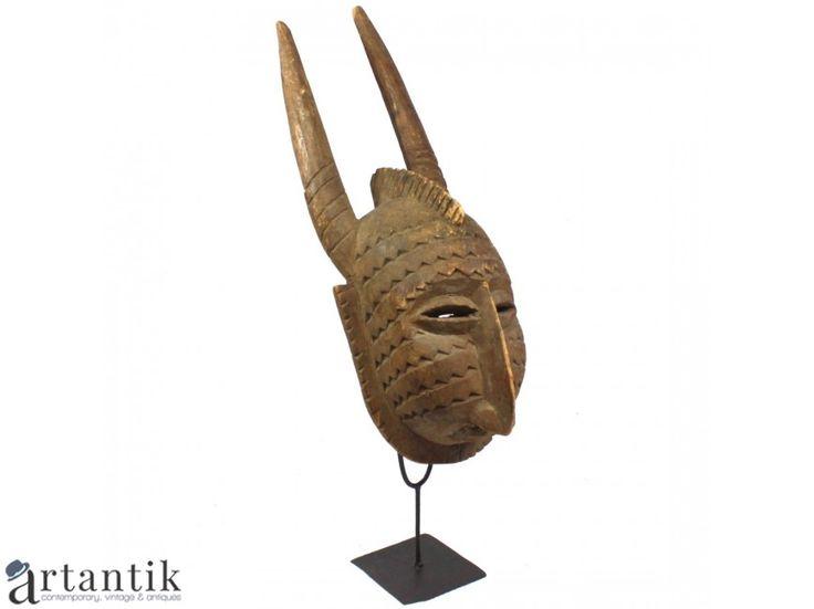 Masca tribala africana Bamana - lemn sculptat