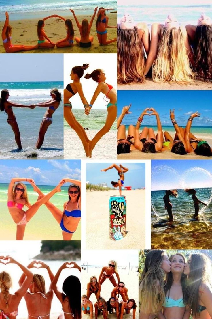 A collage of photo ideas to do with you and your besties!!!