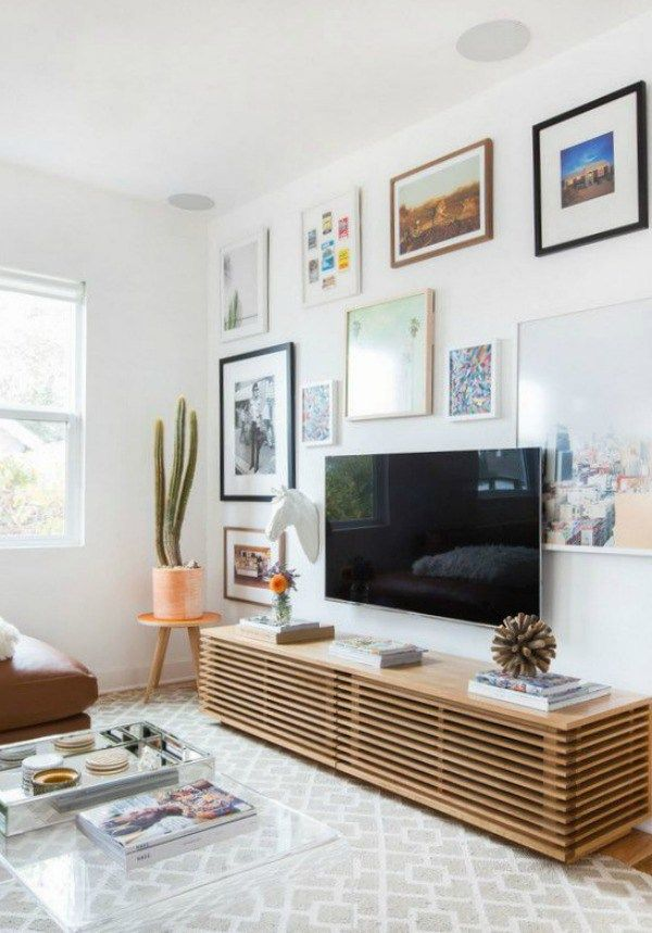 Art Around Tv Living Room Tv Wall Living Room Tv Living Room Wall #wall #decor #ideas #for #small #living #room
