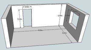 На фото - как рассчитать площадь стен, plitrem.com.ua