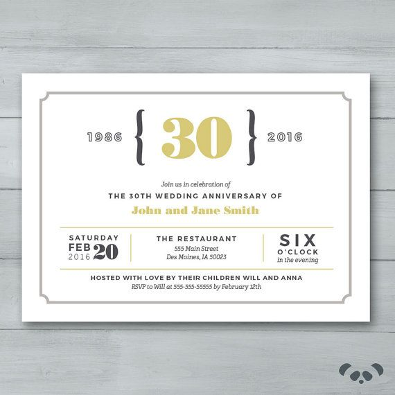 Best 25 anniversary party invitations ideas on pinterest anniversary party invitation wedding by pandafunkcreations stopboris Gallery