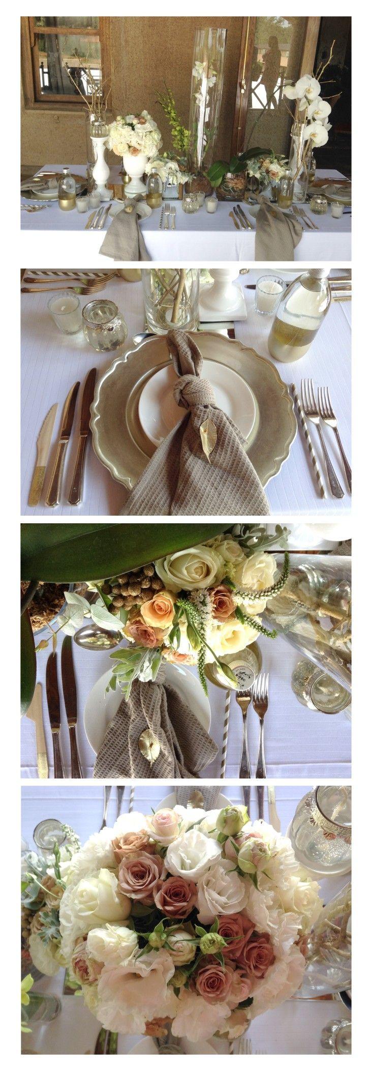 Gold & White Wedding Table