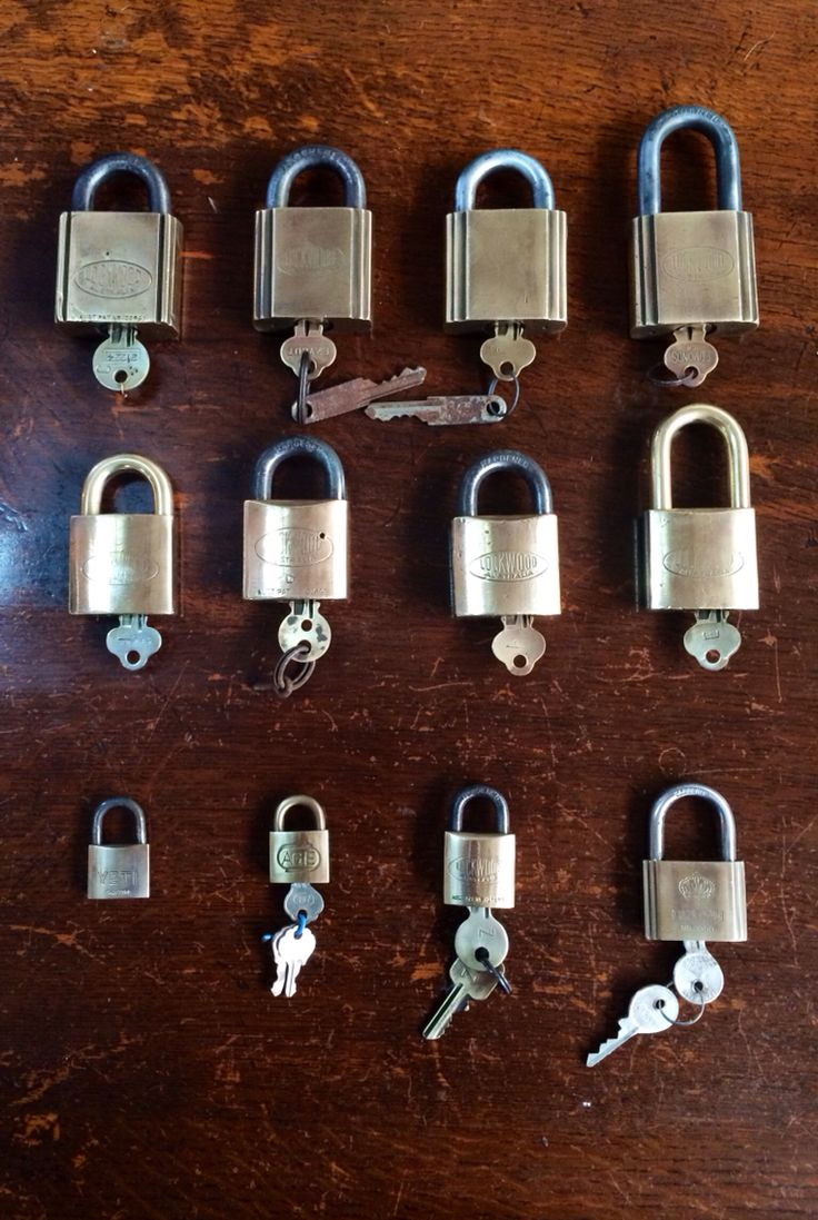 Collection of Vintage Padlocks from The Industrial Revolution