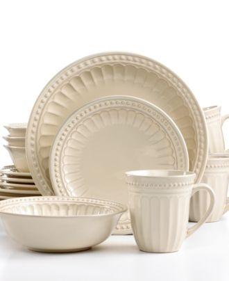 signature living dinnerware regent park cream 16 piece set casual dinnerware dining u0026