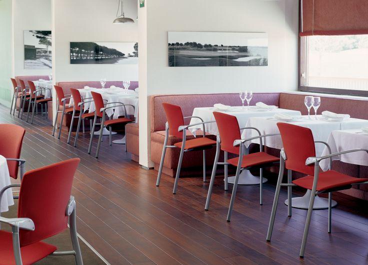 #Eina chair collection. Designed by Josep Lluscà for Enea Design. #hospitality #bar #restaurant #contract #interiordesign #school #office