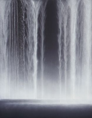 Hiroshi Senju.    Waterfall 2009   Natural pigments on Japanese mulberry paper.  116.7 x 90.9cm.  OMG, don't know where i'll put it but this is beautiful!!