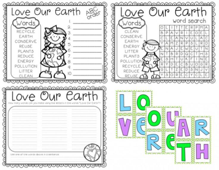 A Cupcake for the Teacher: Love Our Earth {Freebie} + 2 Earthy Anchors!