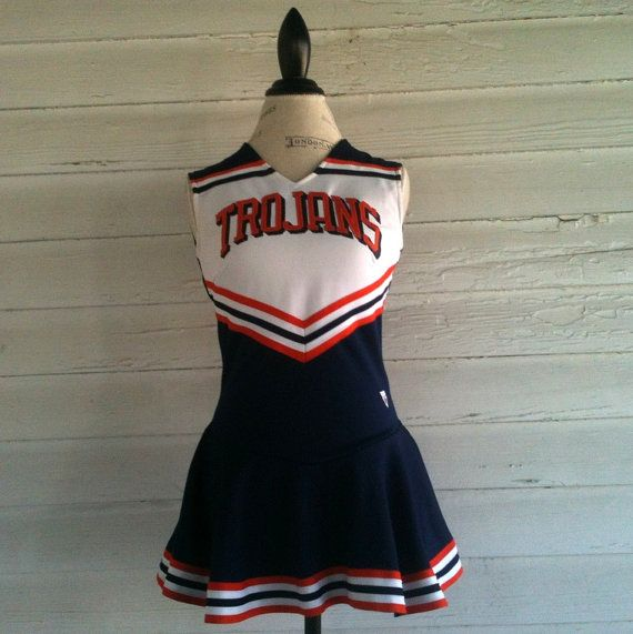 Vintage Cheerleading Uniform  Red White and by runaroundsuevintage, $36.00