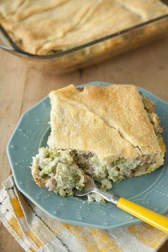 Paula Deen Broccoli Sausage Pie