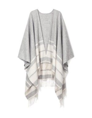 Striped Poncho | Woolworths.co.za