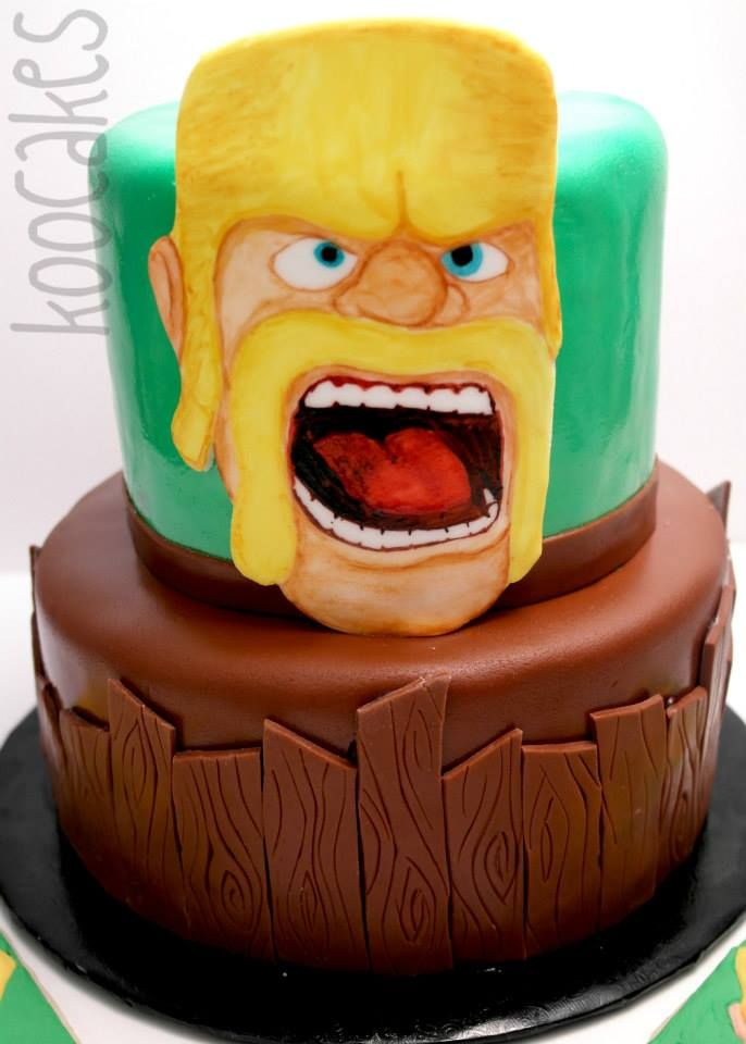 Cake Design Coc : Clash of Clans birthday cake www.koocakes.com Bday ...