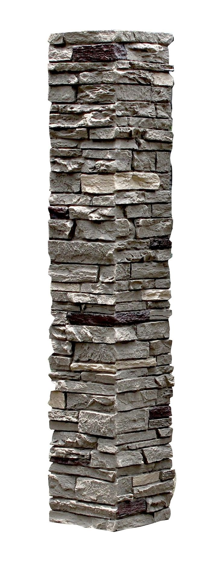BuildDirect®: StoneWorks Faux Stone - 2 Piece Railing Post Covers