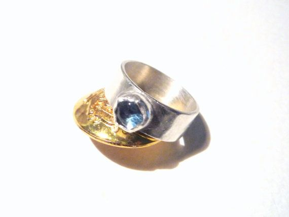 Sterling Silver and London Blue Topaz gemstone, ring.