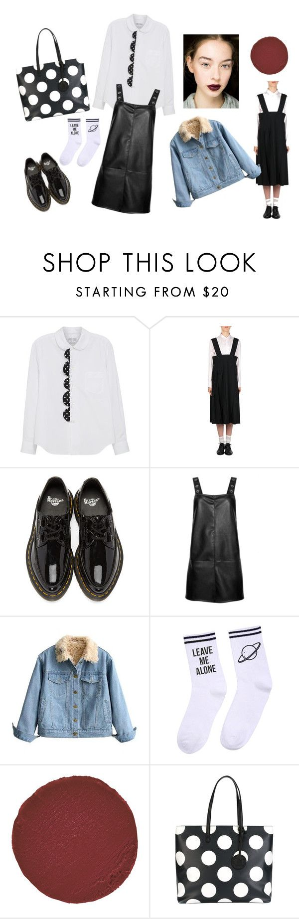 """#untitled"" by yuna92 on Polyvore featuring Comme des Garçons, Dr. Martens, Chicnova Fashion, Yeah Bunny, Christian Louboutin and Moschino"