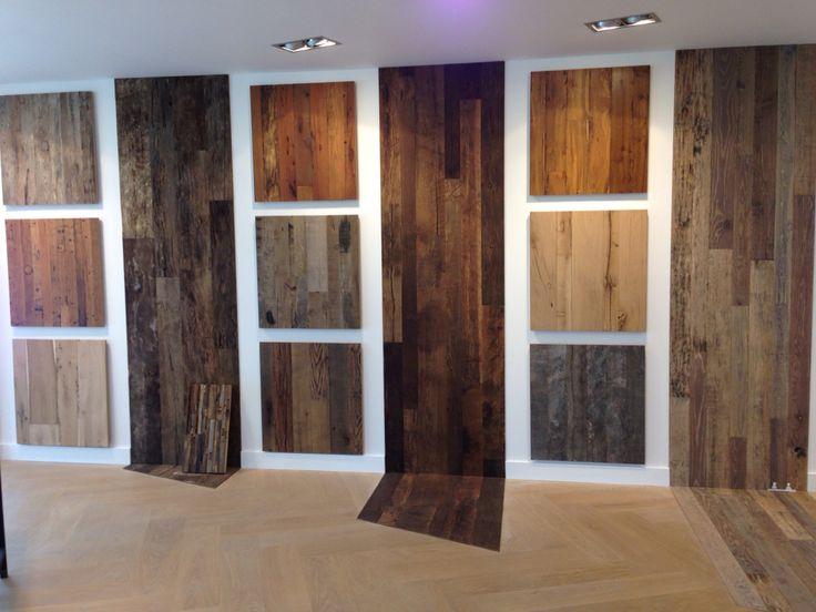 Verschillende soorten Oud hout voor vloer en/of wandbekleding