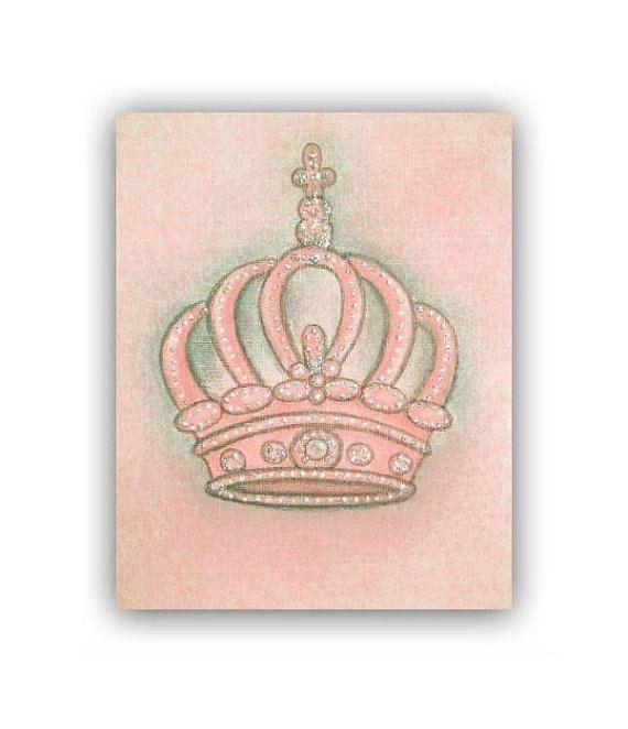 Royal Crown Nursery Prints Baby Girl Nursery Princess