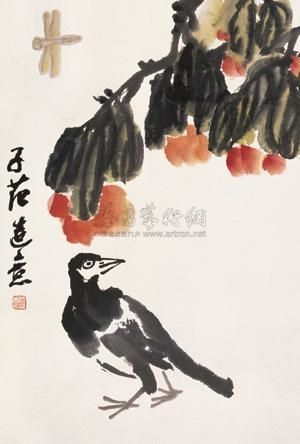 Cui Zifan - BIRD, ink and color on paper