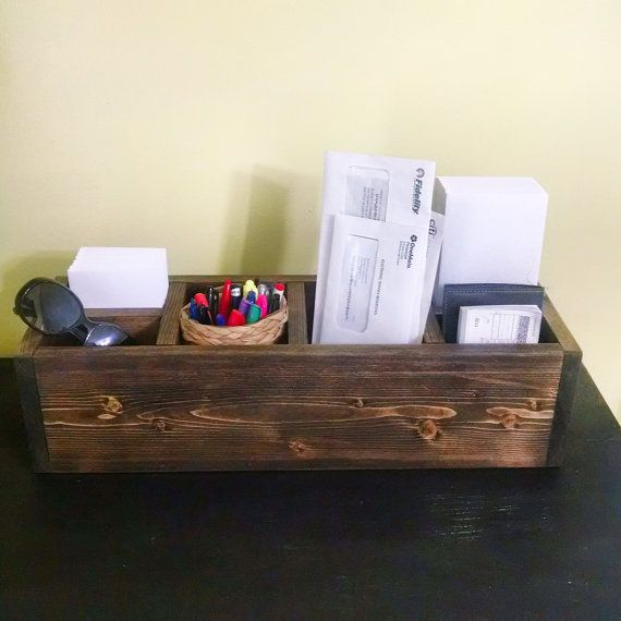 Rustic storage box with iders. Wine bottle holder. Bathroom storage desk organizer storages : storages boxes - Aboutintivar.Com