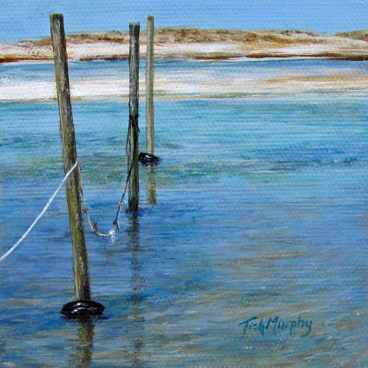 """Low Tide"" 4x4, acrylic on canvas $140.   copyright Tish Murphy Fine Art"