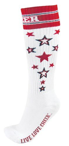 Knee High Star Cheer Sock $4.89. I just ordered these for Rylee and her sister Avery. :)