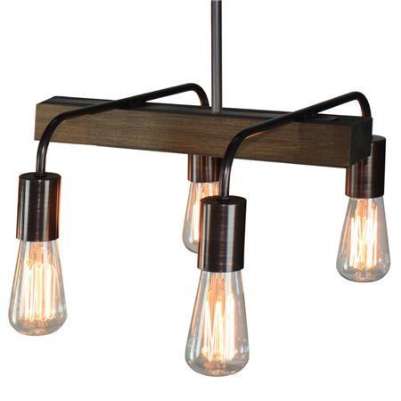 Rustic Industrial 4 Light Chandelier