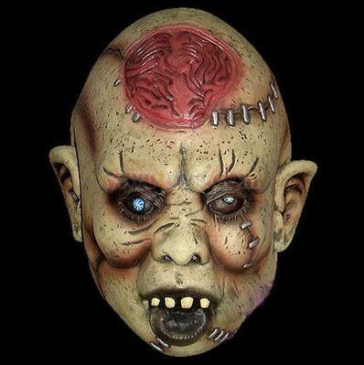 Aki7 призрак! A мужчина или женщина желтая кожа латекса маска для хеллоуин ну вечеринку праздник маски купить на AliExpress