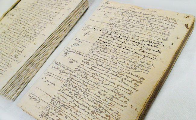 El libro de difuntos de la Iglesia de San Sebastián forma parte de la exposición Miguel de Cervantes: de la vida al mito (1616-2016)
