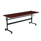 "Economy Flipper Training Table Width: 60"", Color: Mahogany (Office Product)"