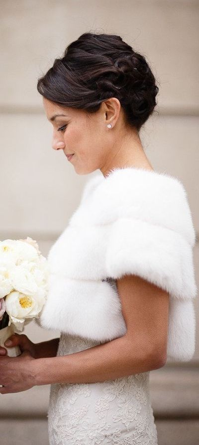 Lovely shrug for a winter wedding