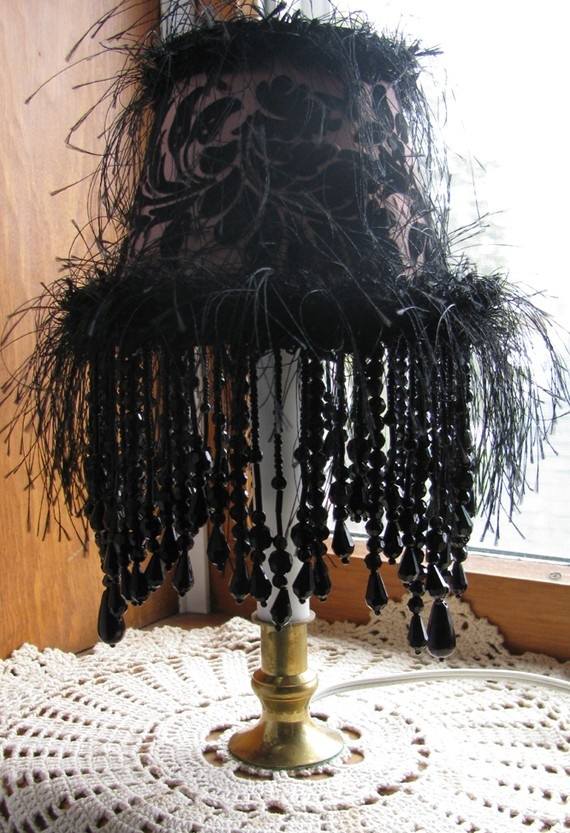 110 best Beaded Lamp Shade images on Pinterest | Lampshades ...