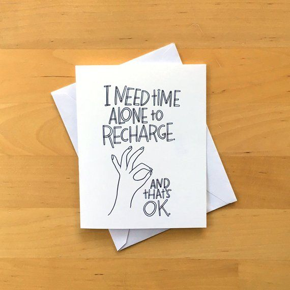 I Need Time Alone To Recharge Printable Greeting Card Etsy Diy Envelope Template Printable Greeting Cards Envelope Template