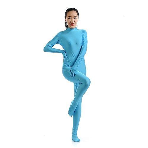 Zentai Suits Ninja Zentai Cosplay Costumes Blue Solid Leotard/Onesie Zentai Catsuit Spandex Lycra Unisex Halloween Christmas 2017 - $27.76