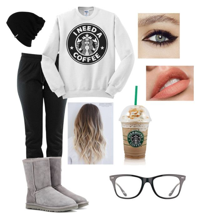 """""""Basic White Girl"""" by kameador2021 on Polyvore featuring UGG Australia, Patagonia and Ray-Ban"""