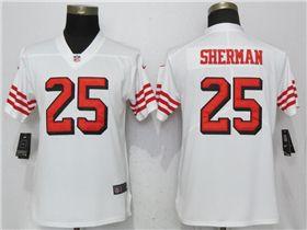 separation shoes 00b24 c84e8 San Francisco 49ers #25 Richard Sherman Women's White Color ...