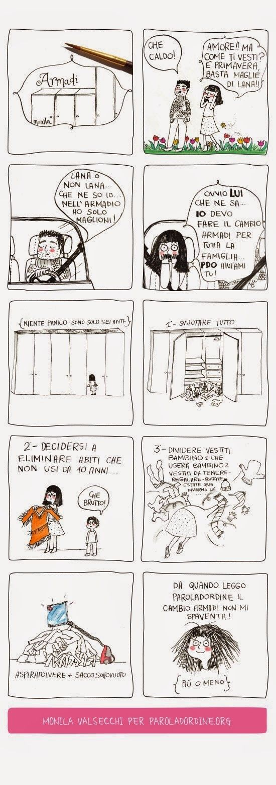 Paroladordine, i Ghirigori di Monila, gli armadi ,Monila